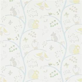 Sanderson Going Batty Sky Blue-Buttercup 214016