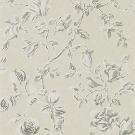 Sanderson Magnolia & Pomegranate Ivory-Charcoal 215726