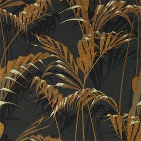 Sanderson Palm House Charcoal-Gold 216641