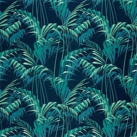 Sanderson Palm House Ink-Teal 226568
