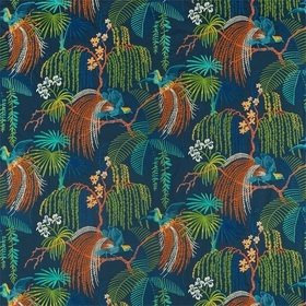 Sanderson Rain Forest Embroidery Tropical Night 236778