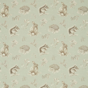 Sanderson Squirrel & Hedgehog Seaspray-Charcoal DWOW225522