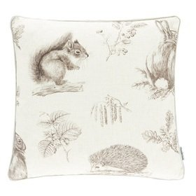 Sanderson Squirrel & Hedgehog Walnut-Linen 257029
