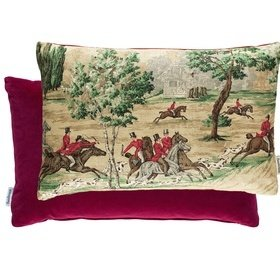 Sanderson Tally Ho Evergreen-Crimson 254783