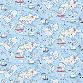 Sanderson Treasure Map Sea Blue 214038