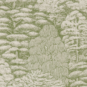 Sanderson Woodland Toile Cream-Green 215720