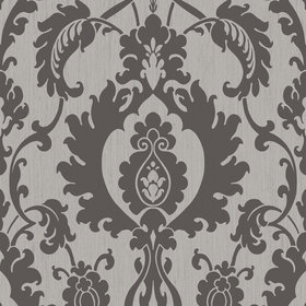SketchTwenty3 Bold Damask Beaded Silver-Black SL00830