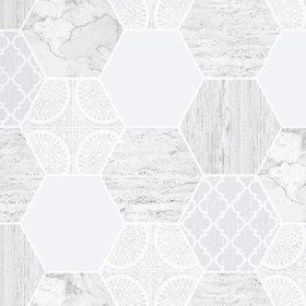 Superfresco Hexagonal Marble Grey 103854