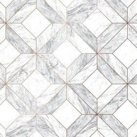 Superfresco Marble Marquetry White-Rose Gold 103856