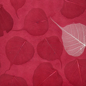 Natural Furniture Company Ltd Red and Cream Leaf