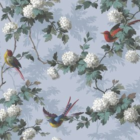 The Vintage Collection Bird Print Blue HWP-12010-4