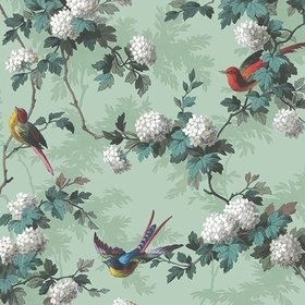 The Vintage Collection Bird Print Green HWP-12010-3