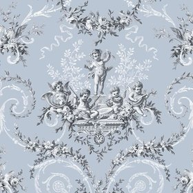 The Vintage Collection Cherub Toile Blue HWP-12011-4