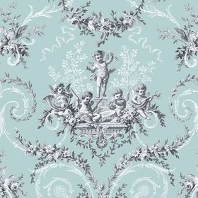 The Vintage Collection Cherub Toile Duck Egg HWP-12011-1