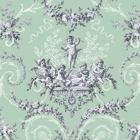 The Vintage Collection Cherub Toile Green HWP-12011-3