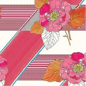The Vintage Collection Graphic Floral Pink-Orange MCWP-14015-2