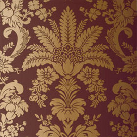 Thibaut Addison Damask Metallic on Brown T3848