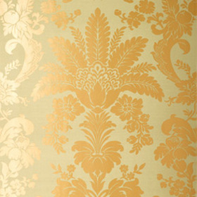 Thibaut Addison Damask Metallic on Sage T3847