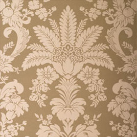 Thibaut Addison Damask Metallic on Taupe T3844