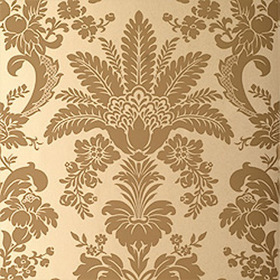 Thibaut Addison Damask Tobacco on Metallic T3845