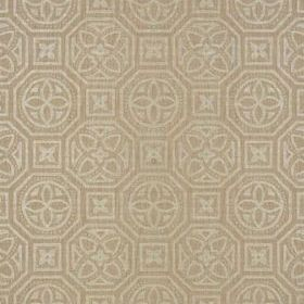 Thibaut Alexander Metallic Pewter on Beige T10001