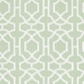 Thibaut Alston Trellis Cream on Seaglass W713031