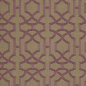 Thibaut Alston Trellis Plum on Natural W713028