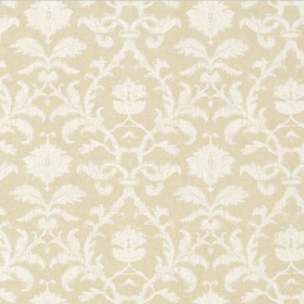 Thibaut Anita Damask White on Natural F98635