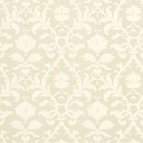 Thibaut Anita Damask White on Tan T8635