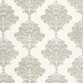 Thibaut Arturo Damask Grey on White W713017
