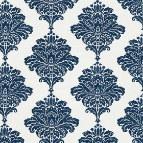 Thibaut Arturo Damask Navy on White W713014