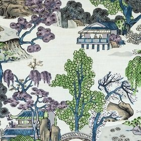 Thibaut Asian Scenic Purple and Blue F975459