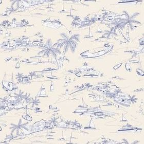 Thibaut Bahamas Blue and Beige T5756