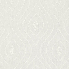 Thibaut Balboa Dots Embroidery White on White W75702
