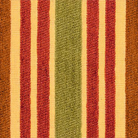 Thibaut Baltic Stripe Rust and Green on Gold W71821