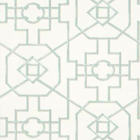 Thibaut Bamboo Lattice Aqua T36154
