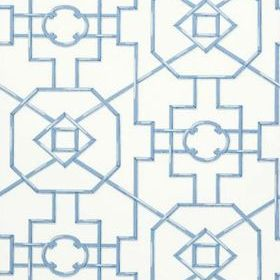 Thibaut Bamboo Lattice Blue T36158