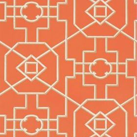 Thibaut Bamboo Lattice Coral T36153
