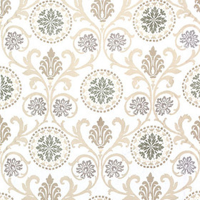 Thibaut Banyan Embroidery Grey and Neutral W764101