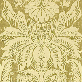 Thibaut Beaufort Damask Metallic on Olive T9035