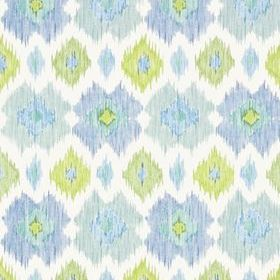 Thibaut Bimini Ikat Blue and Green T5728