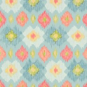 Thibaut Bimini Ikat Blue and Orange T5729