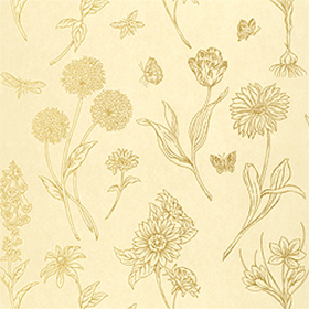 Thibaut Brookfield Metallic on Cream T4731