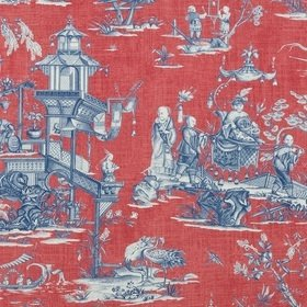 Thibaut Cheng Toile Red and Blue F975466