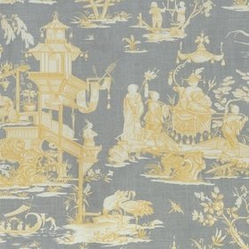 Thibaut Cheng Toile Yellow and Grey F975470