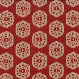 Thibaut Circle Ikat Red W74140