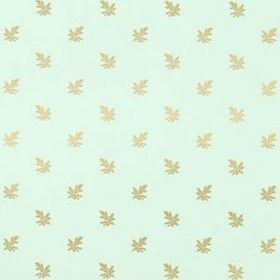 Thibaut Cotswold Metallic Gold on Aqua T4180