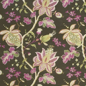 Thibaut Donegal Printed Fabrics Charcoal F913001
