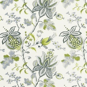 Thibaut Donegal Printed Fabrics Green and Grey F913006