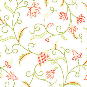 Thibaut English Crewel Pink and Green T3320